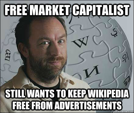 Free Market Capitalist Still Wants to Keep Wikipedia Free From Advertisements