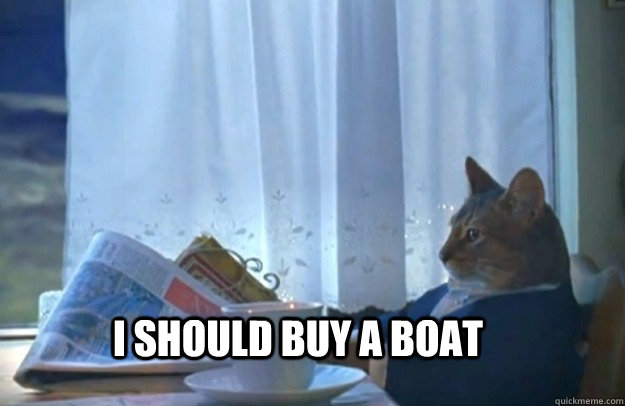 I should buy a boat - I should buy a boat  Sophisticated Cat