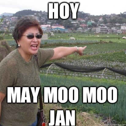 HOY  MAY MOO MOO JAN - HOY  MAY MOO MOO JAN  Angry Filipino Mom