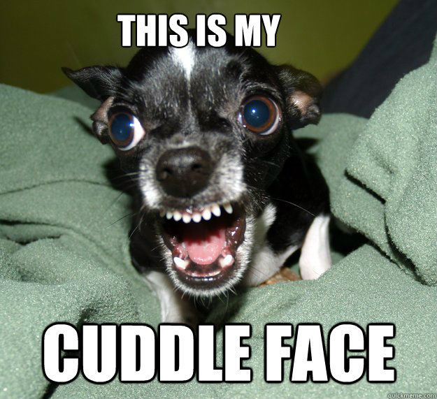 This is my  cuddle face