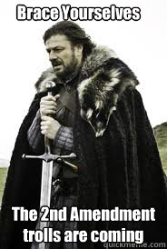 Brace Yourselves The 2nd Amendment trolls are coming  - Brace Yourselves The 2nd Amendment trolls are coming   Brace Yourselves