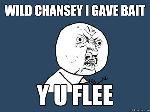 wild chansey i gave bait y u flee - wild chansey i gave bait y u flee  Y U No