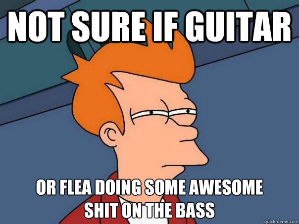 Not sure if guitar Or Flea doing some awesome  shit on the bass - Not sure if guitar Or Flea doing some awesome  shit on the bass  Futurama Fry