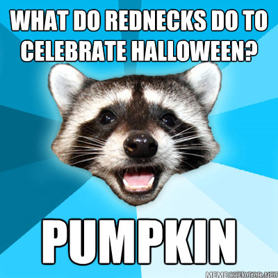 What do rednecks do to celebrate halloween? pumpkin  - What do rednecks do to celebrate halloween? pumpkin   Misc
