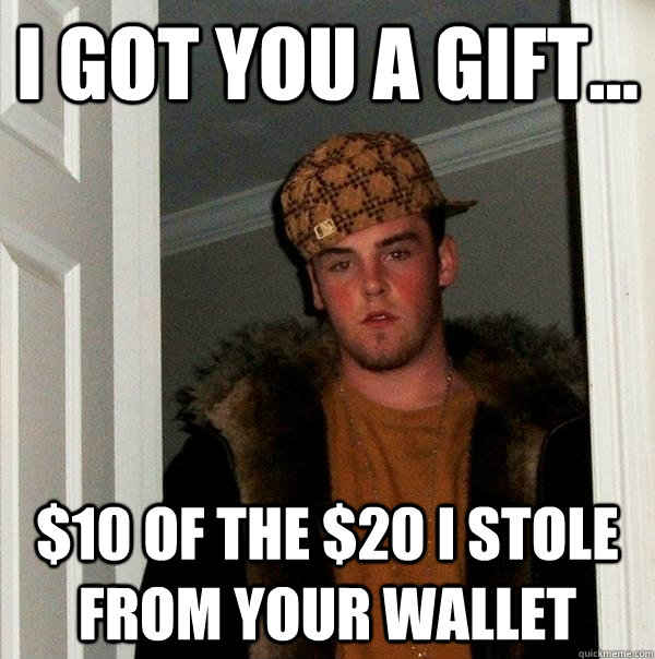 I stole your wallet for some of that dick 3