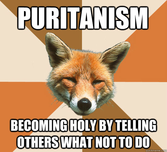 Puritanism Becoming holy by telling others what not to do  Condescending Fox