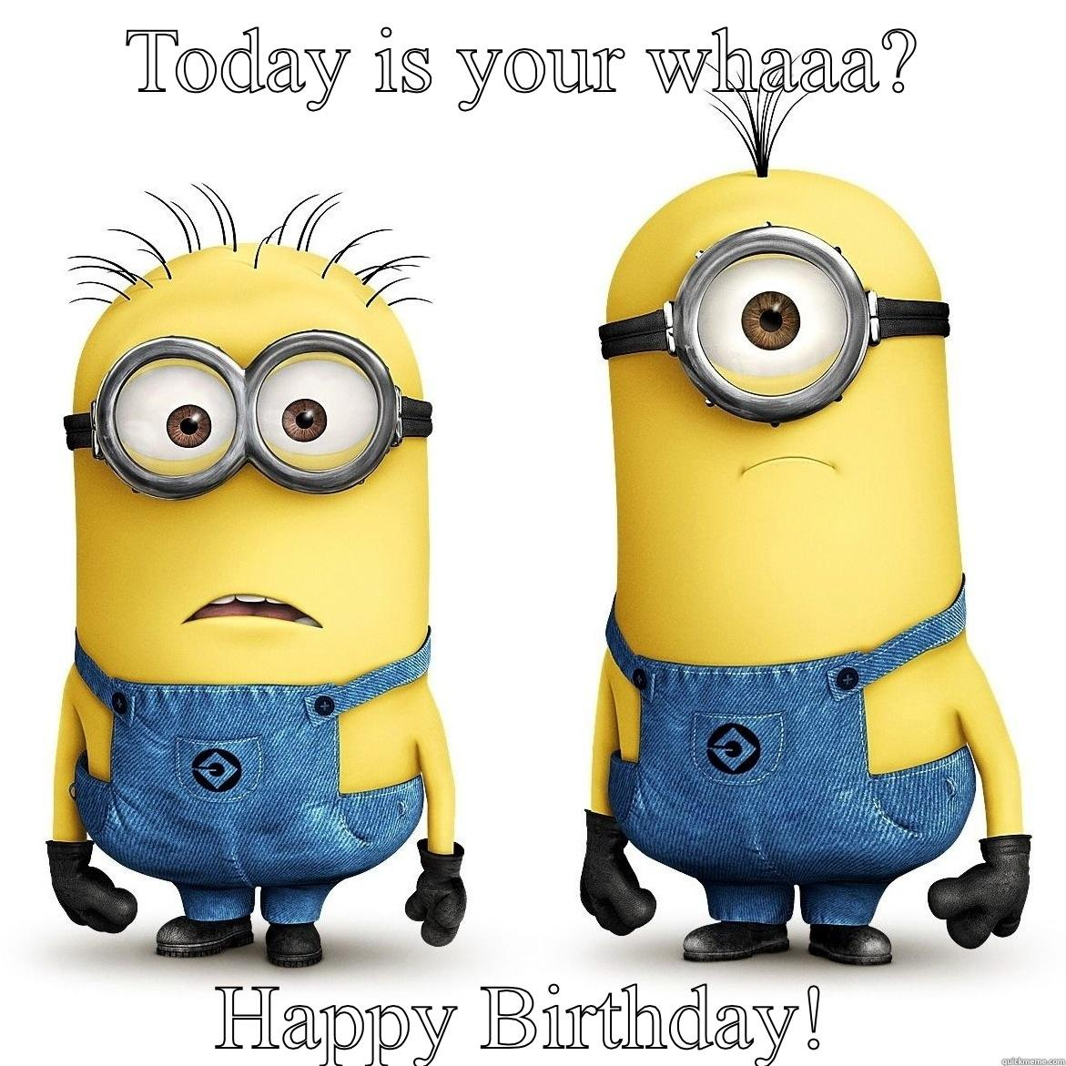 Pictures of Minions Saying Happy Birthday Minions Say Happy Birthday