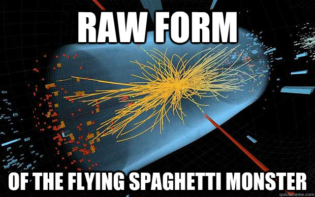 Raw form of the flying spaghetti monster