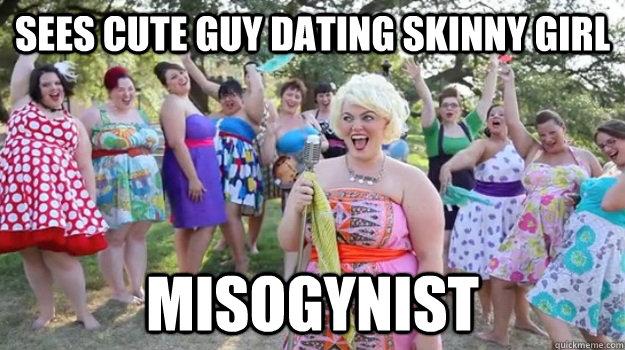 Skinny girl dating a big guy