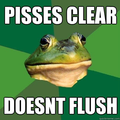 Pisses Clear Doesnt Flush - Pisses Clear Doesnt Flush  Foul Bachelor Frog