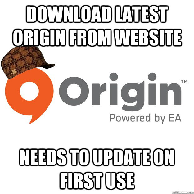 Download latest origin from website Needs to update on first use