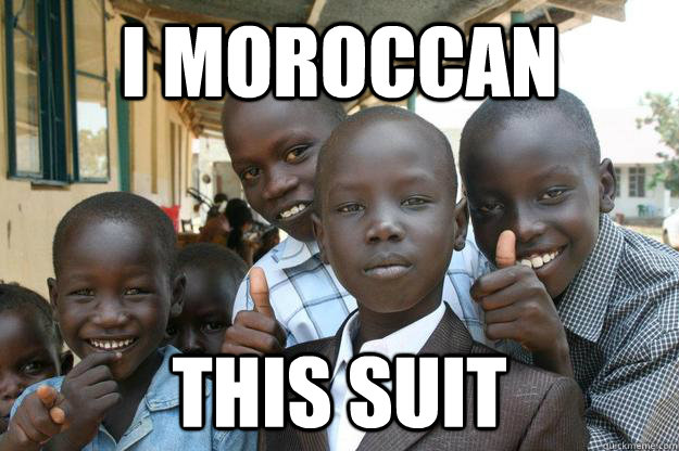 I moroccan this suit