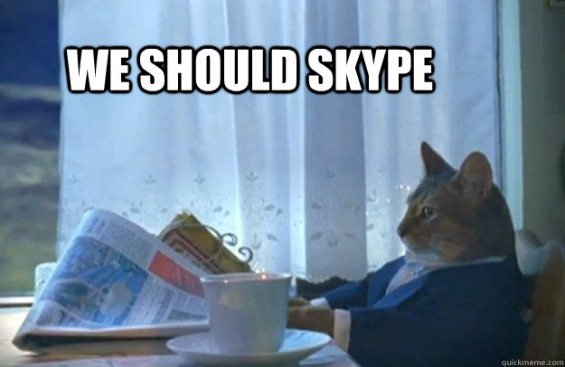 We should Skype - We should Skype  Sophisticated Cat