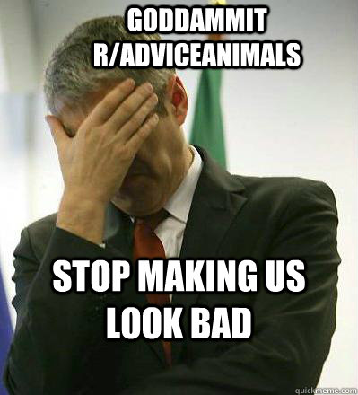 Goddammit r/adviceanimals Stop making us look bad