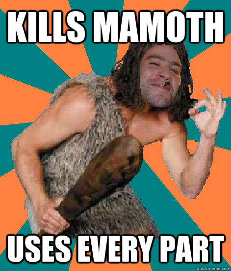 Kills Mamoth uses every part