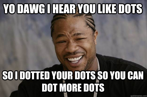 547caa2ef23666ea10ac8d60b158994d469bbf4f649d982c96c396d29819c031 yo dawg i hear you like dots so i dotted your dots so you can dot