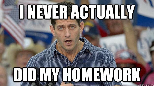Never do my homework