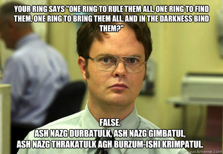 Your ring says