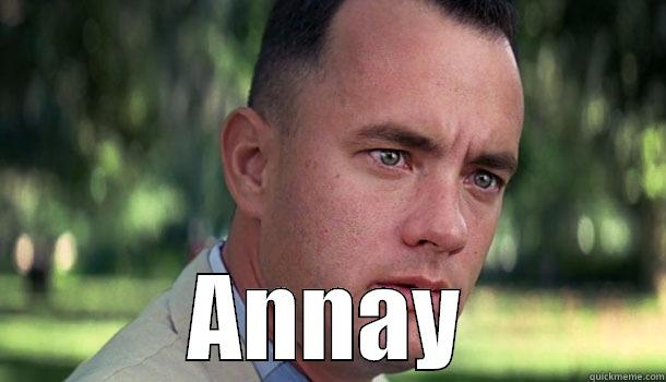 ANNAY Offensive Forrest Gump