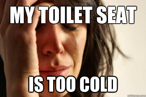 My Toilet Seat IS TOO COLD - My Toilet Seat IS TOO COLD  First World Problems