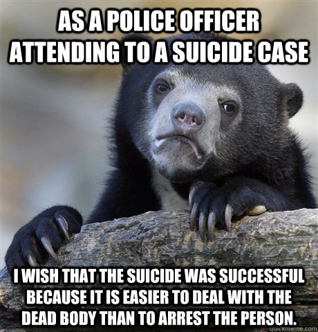 my experience of attending a suicide panel