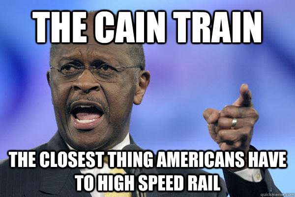 the cain train the closest thing americans have to high speed rail