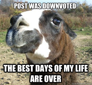 Dont Feed The Drama Llama post was downvoted the best