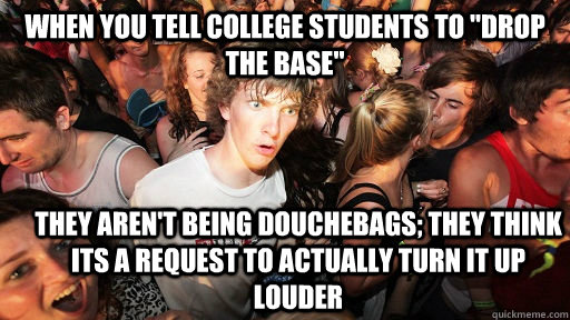 When you tell college students to