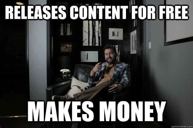 releases content for free makes money  benevolent bro burnie