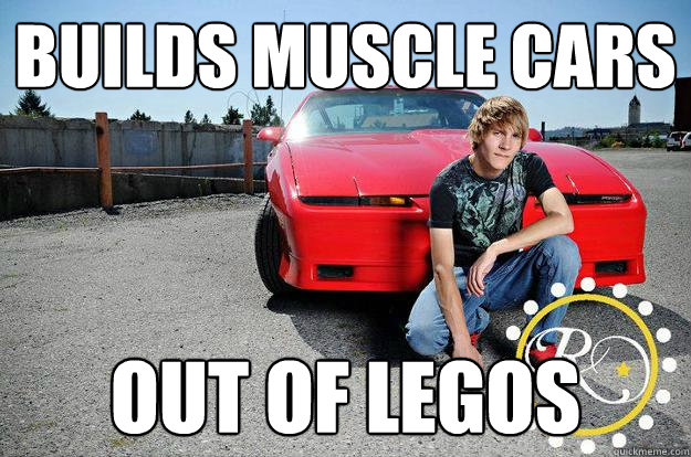 Builds Muscle Cars Out Of Legos Car Buff Marshall Quickmeme