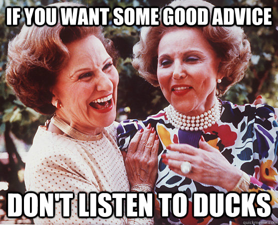 If you want some good advice Don't listen to ducks - If you want some good advice Don't listen to ducks  Actual Advice Ann and Abby