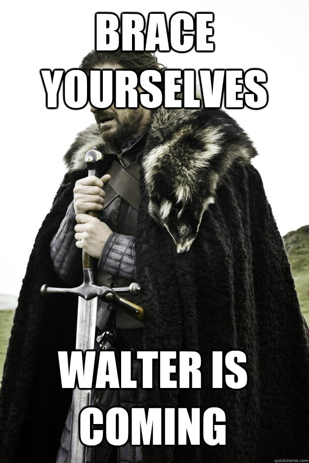 Brace yourselves Walter is coming - Brace yourselves Walter is coming  Winter is coming