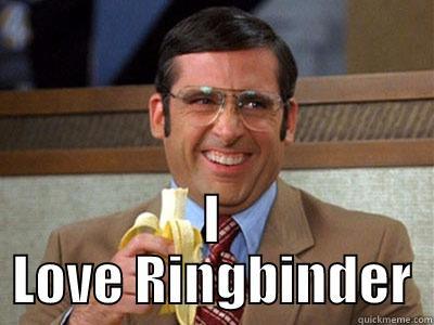 I LOVE RINGBINDER Brick Tamland