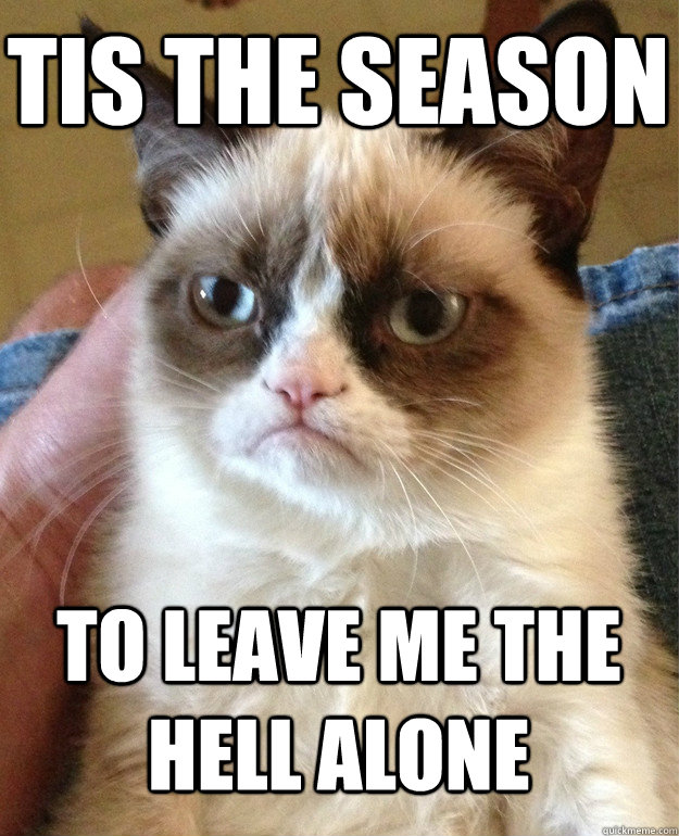 tis the season To leave me the hell alone - tis the season To leave me the hell alone  Grumpy Cat
