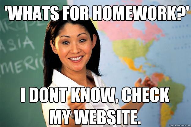 Website for homework