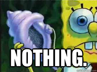 Nothing. -  Nothing.  Magic Conch Shell