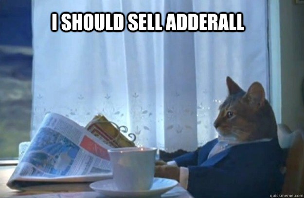 I should sell adderall - I should sell adderall  Sophisticated Cat