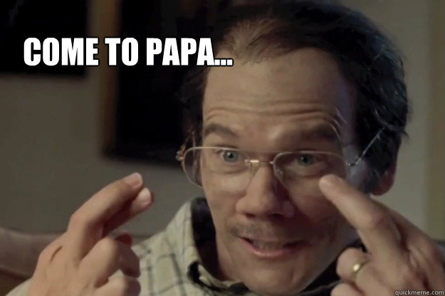 Come to papa...   Kevin Bacon