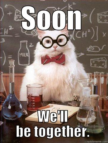 SOON WE'LL BE TOGETHER. Science Cat