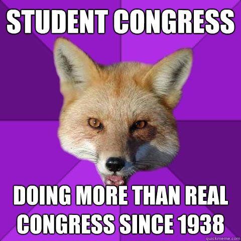 Student Congress Doing more than real congress since 1938