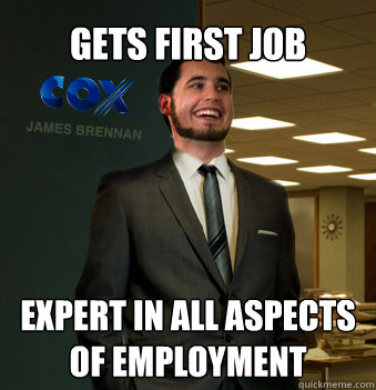 GETS FIRST JOB EXPERT IN ALL ASPECTS OF EMPLOYMENT