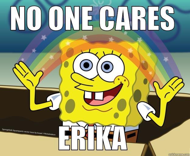 NO ONE CARES ERIKA Nobody Cares