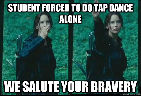 Student forced to do tap dance alone we salute your bravery - Student forced to do tap dance alone we salute your bravery  teaching dance