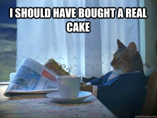 I should have bought a real cake - I should have bought a real cake  1% Cat