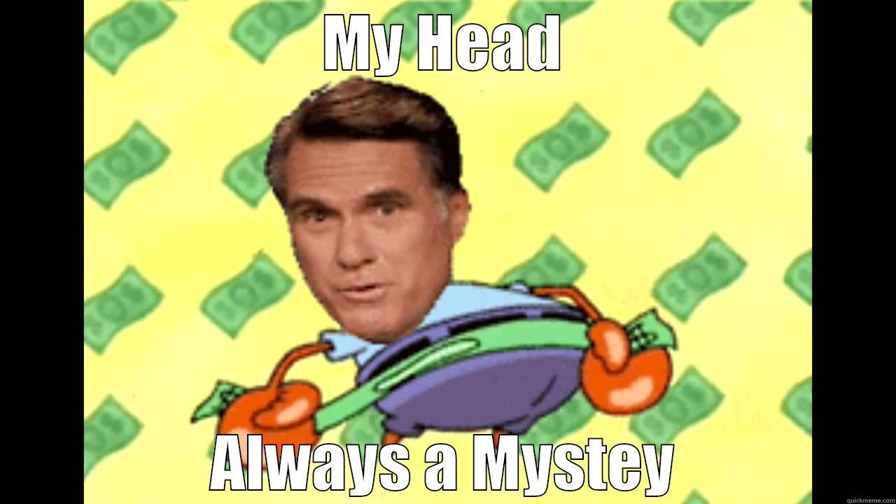 MY HEAD ALWAYS A MYSTEY Tough Spongebob