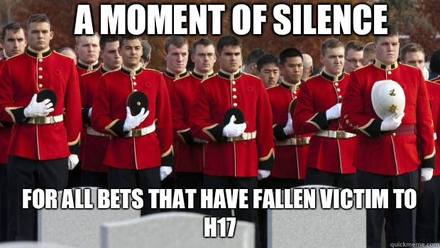 A moment of silence For all bets that have fallen victim to H17