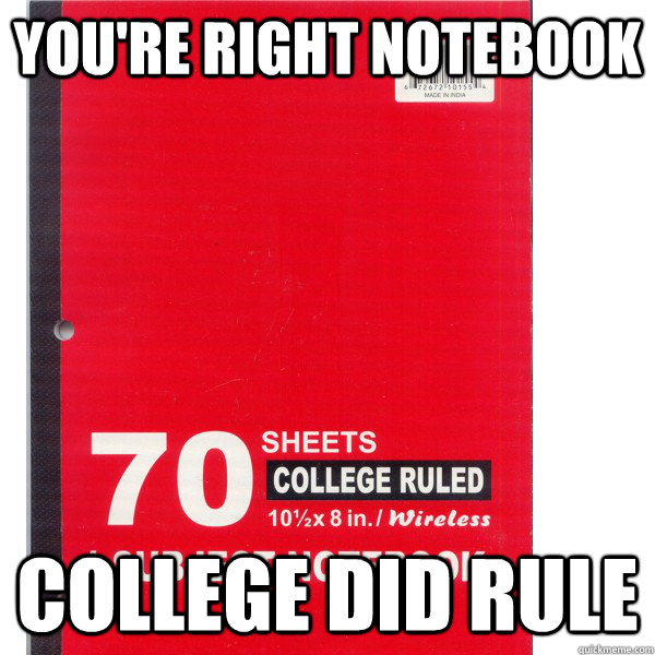 You're right notebook college did rule - You're right notebook college did rule  Misc