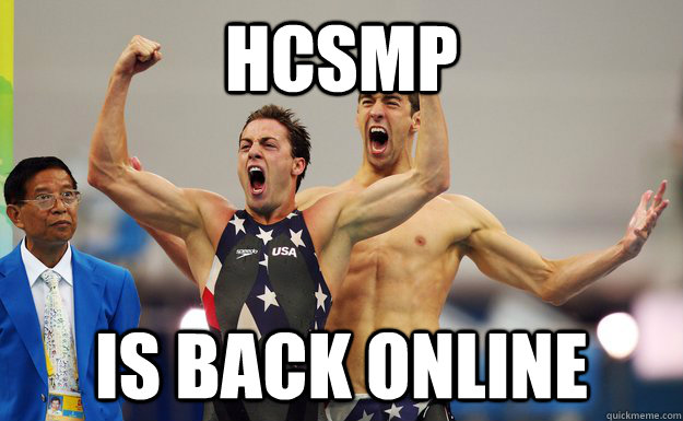 hcsmp  is back online  - hcsmp  is back online   Misc