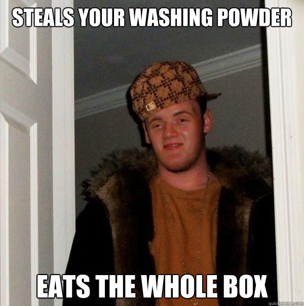 Steals your washing powder eats the whole box