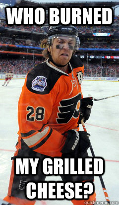 Who burned  my grilled cheese? - Who burned  my grilled cheese?  disgusted Giroux